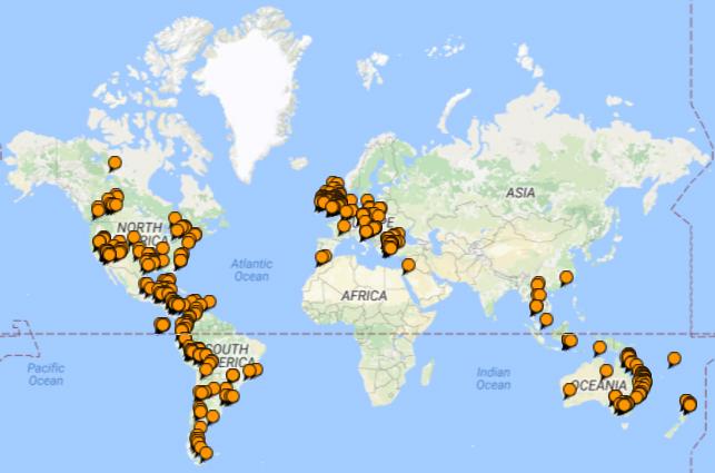 Where Becstar has been Abroad...so far.