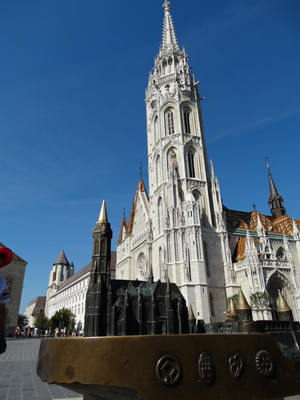 Matthias Church and scale braille model