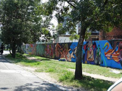 Graffiti walls on the way to Szentendre