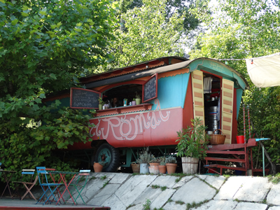 Cafe on the riverbank - Margaret Island