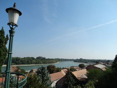 Rooftops of Szentendre to the Danube