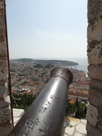 Hvar Fortress - You'd hope it was very long range to fire cannon balls from the fortress over the town to the invading ships.