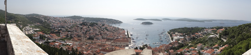 View to the Pakleni Islands from Hvar Fortress