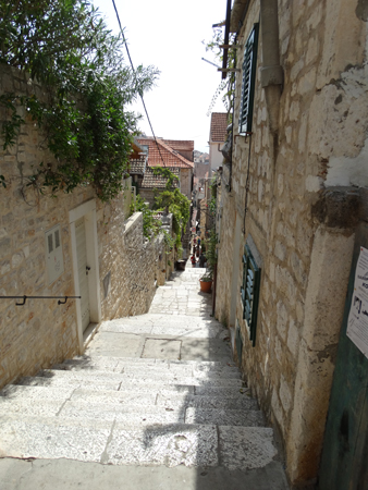 Alley up the hill from the Square from Hvar