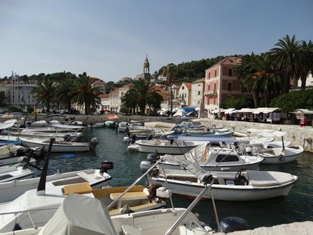 Hvar's crowded harbour
