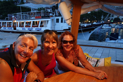 Making friends on the boat trip home from Hvar