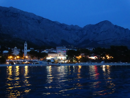 Baska Voda twinkles in the evening