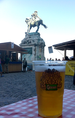 Good beer to be had at the festival market outside the Royal Palace.