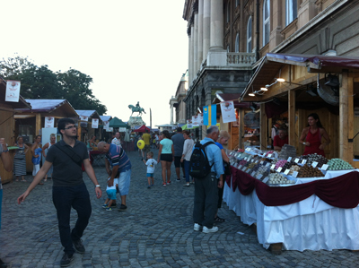 Festival market outside Buda Castle
