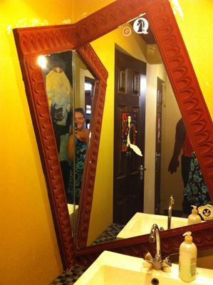 Mirror in Szentendre cafe loos
