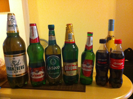 Welcome to Croatia, where the beer comes in bigger bottles than soft drinks.