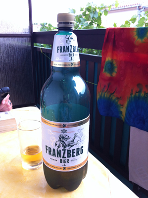 The beer that keeps on giving. For less than £2 for the whole 2ltrs we were very surprised it was completely drinkable to the end. Took several games of scrabble to get through it all though!