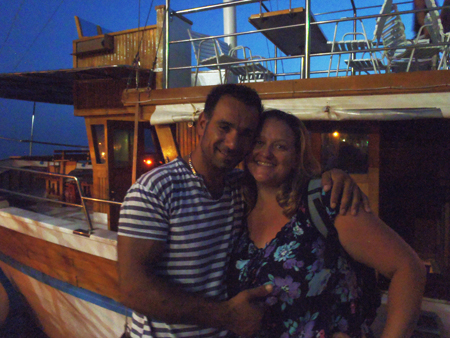 Cheeky crewman on our fish picnic boat trip to Hvar