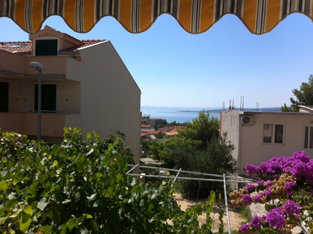 View from our room at Apartments Ruza, Baska Voda