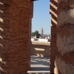 Koutoubia Mosque minaret from El Badi Palace - Kasbah District