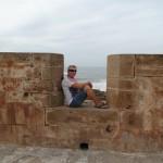 Essaouira rampart walls.