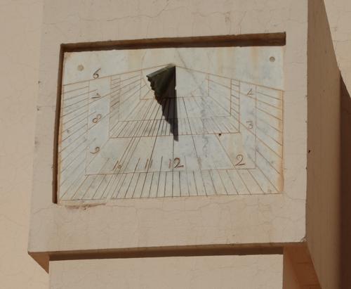 Working sundial at Zaouia Sidi Bel Abbès Mosque