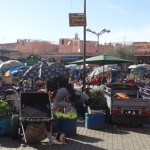 Street market scenes around the Medina