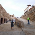 Well that's a very new way to get around in a very old city. Essaouira ramparts.