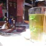 Mint tea break while shopping in the souks