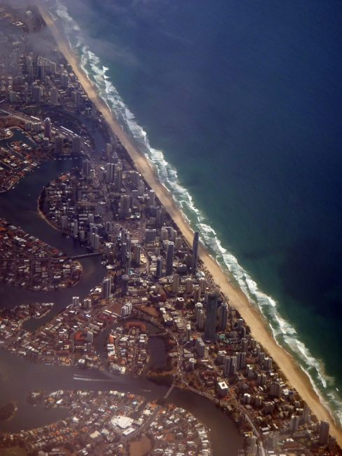 Heading home - Gold Coast from the air