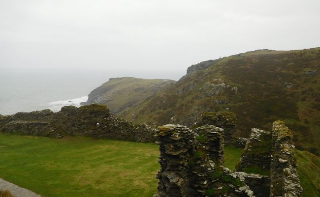 Grounds of Tintagel Castle.