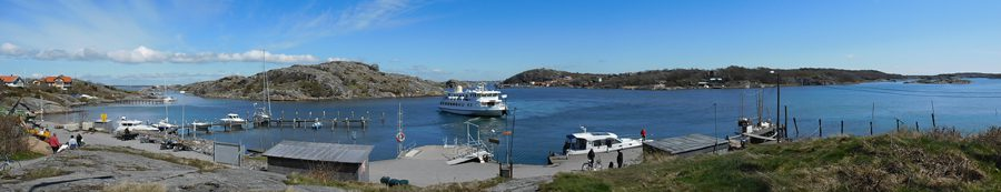Ferry stop at the north end of Branno Island