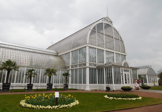 Palm House in the 19th century Rose Garden
