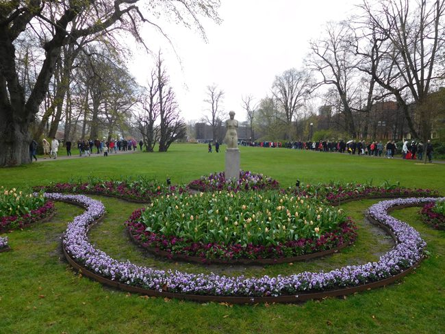 The tranquil Tradgardsforeningen park