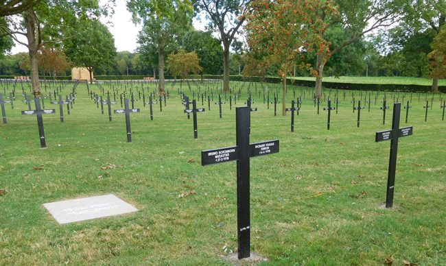 Fricourt German Cemetery. Apparently a funker is a radio man or signaller.
