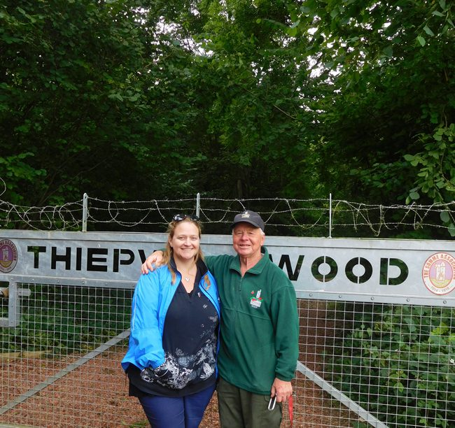 Teddy outside Thiepval Wood