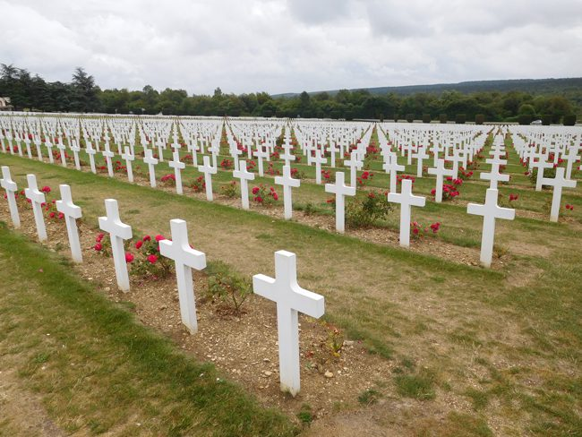Cemetery outside the Douaumont Ossuary in Verdun