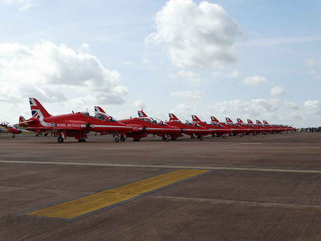Red Arrows at rest