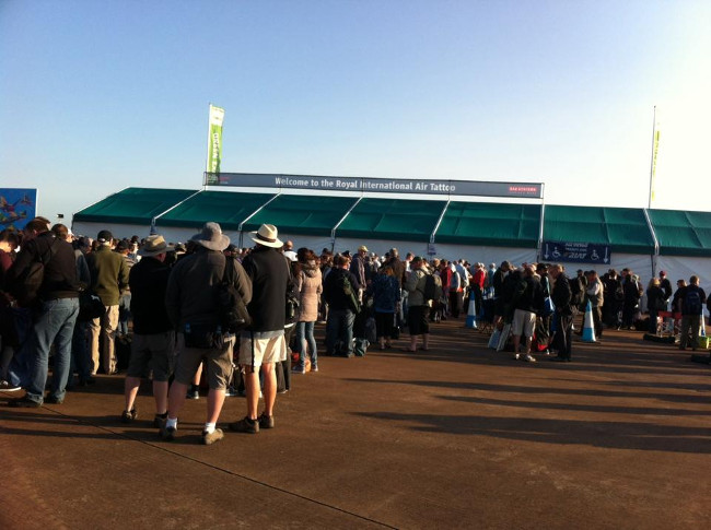 Queuing to get into the Air Show