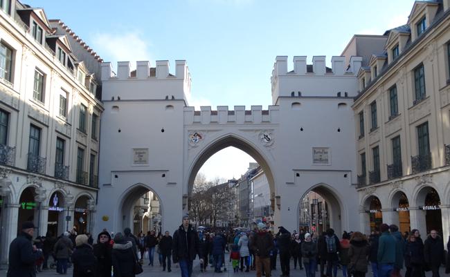 Historic City Gate, Karlstor.