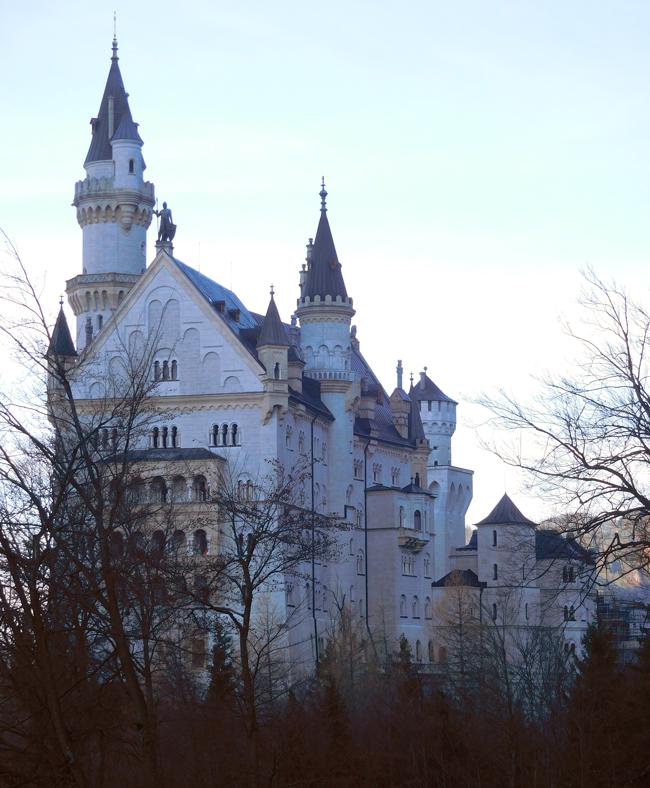 Neuschwanstein Castle coming back from Marie's Bridge