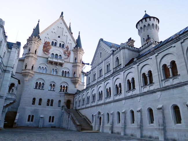 Neuschwanstein Castle inner courtyard