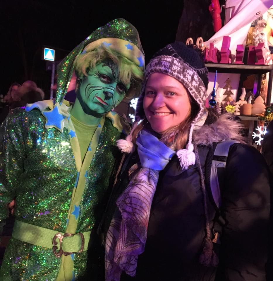 The cringey Grinch at the Pink Christmas Market
