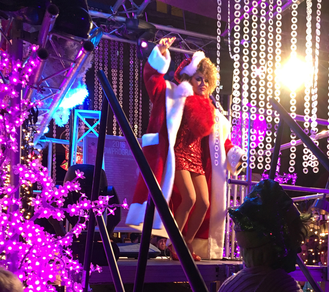 Pink Christmas cabaret with a sultry Santa - Munich's answer to Lily Savage