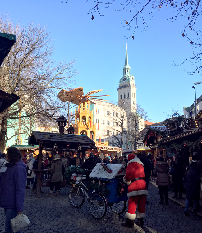 Quaint Christmas Market with great wurst and sauerkraut.