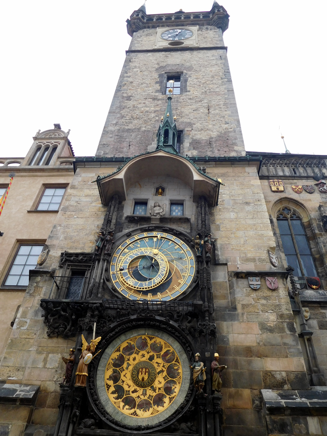 Astronomical Clock and the Old Town Hall Tower, Prague.