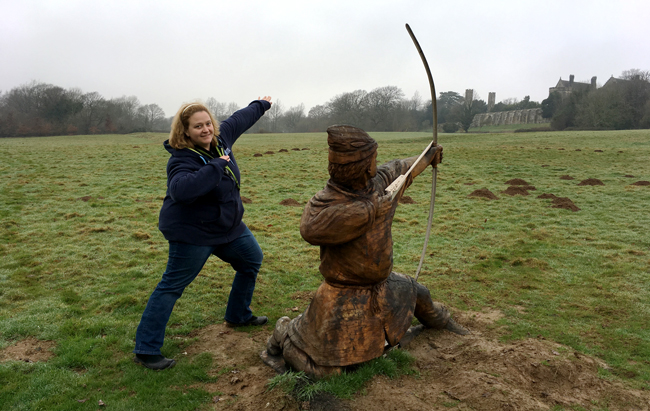 Usain Bolt must have been an archer in a previous life perhaps? 1066 battleground archer.