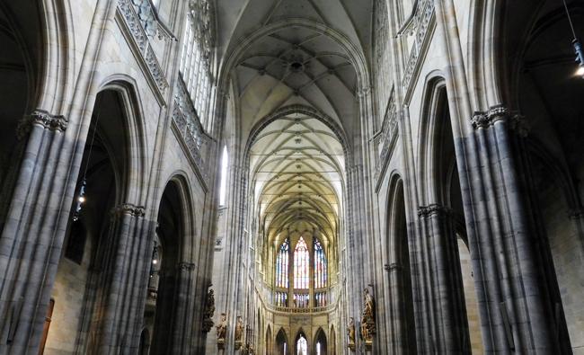 Inside St Vitus Cathedral, Prague Castle, Prague.