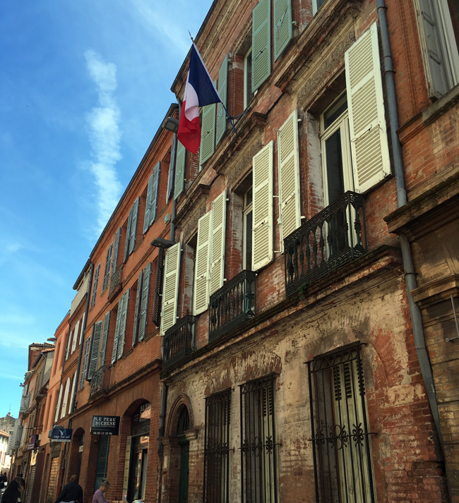 Toulouse being quintessentially French.